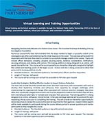 PSP Virtual Learning and Training Opportunities cover page